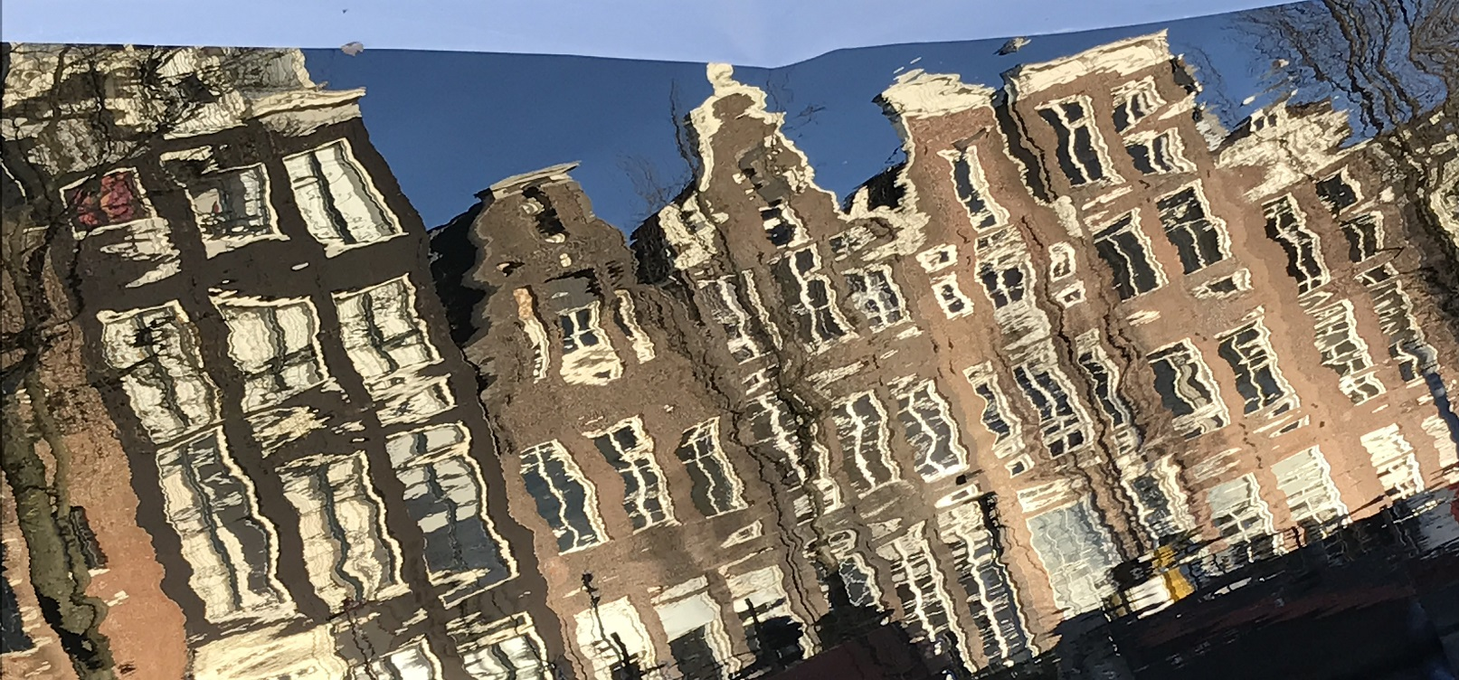 Book local layover tour - Reflection Canal houses Amsterdam