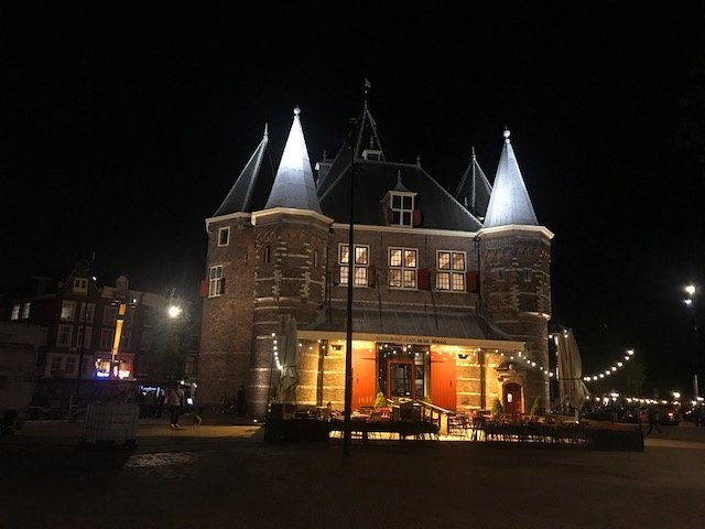 De Waag, Nieuwmarkt - overnight layover Amsterdam