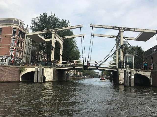 Draw bridge, view from Amstel River