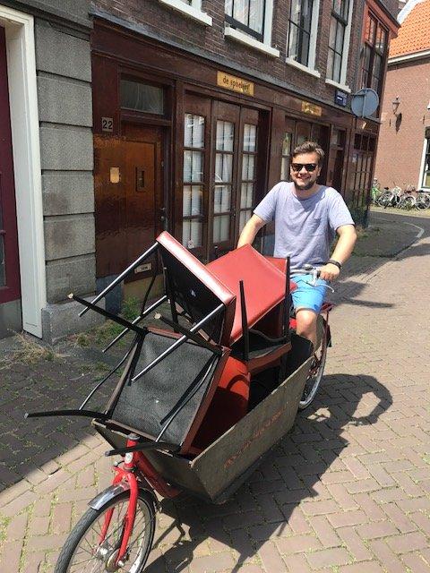 The Dutch even move their furniture on their bikes - Bikes Amsterdam