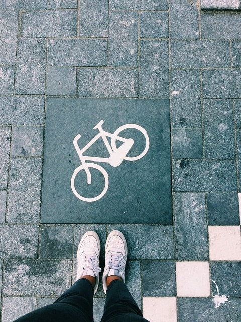 Cycle path in Amsterdam