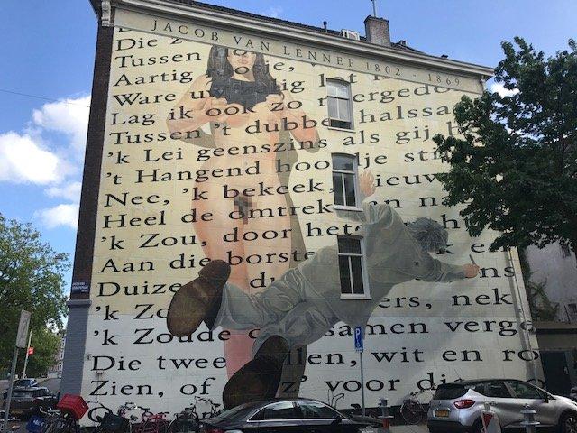 Street Art Jacob van Lennepstraat - Free things the Dutch love