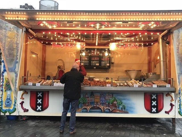 Oliebollen stall Amsterdam