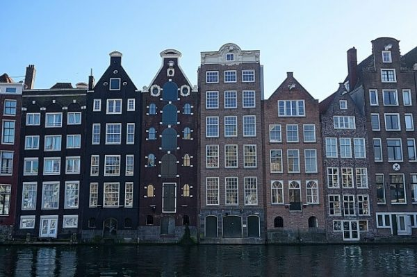 View on the canal houses