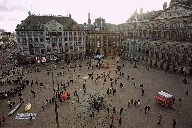 Dam Square, the heart of the Netherlands