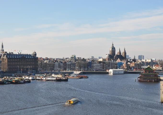 Amsterdam's historic harbour front