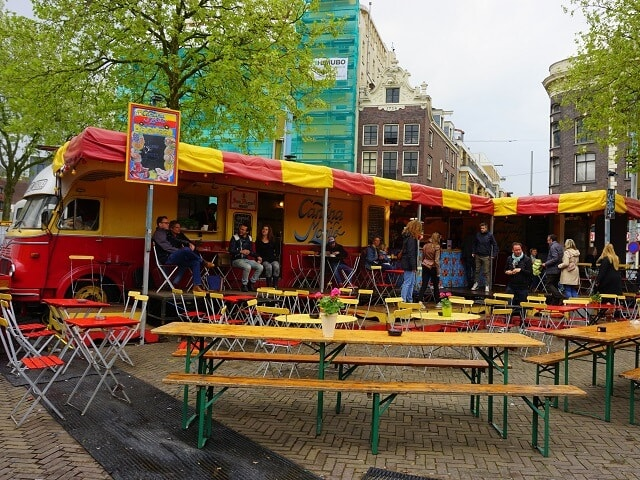 Festival season - spring time layover in Amsterdam