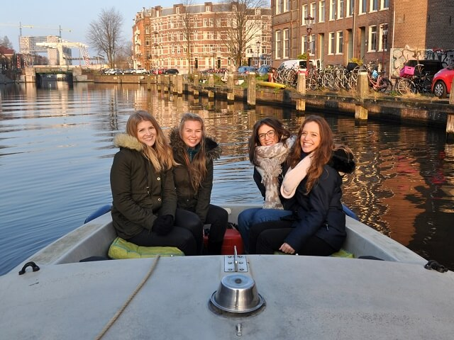 Boating - spring time layover in Amsterdam