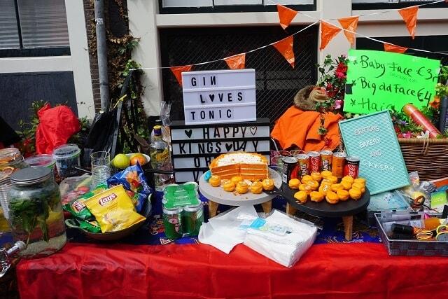 Flea Market on Kingsday in Amsterdam