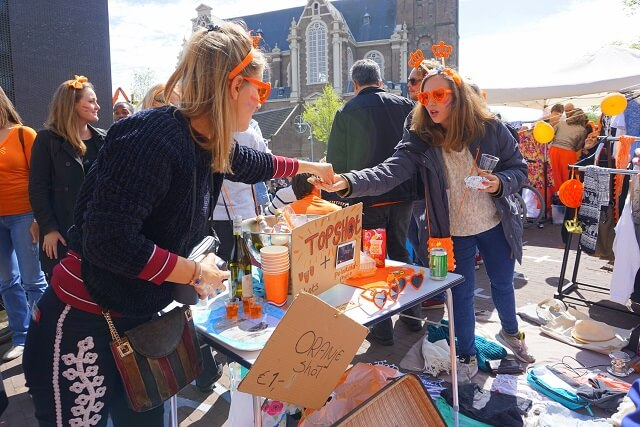 Flea Market Amsterdam during Kingsday