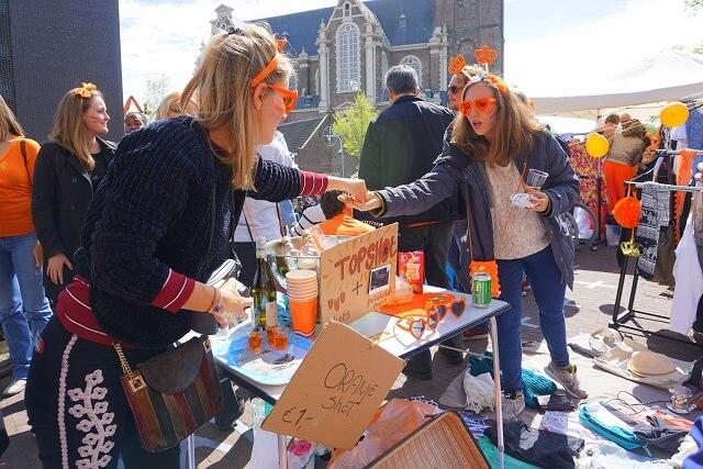 Flea Market Amsterdam during Kingsday