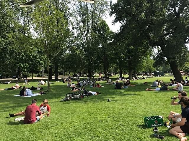 Vondelpark - spring time layover in Amsterdam